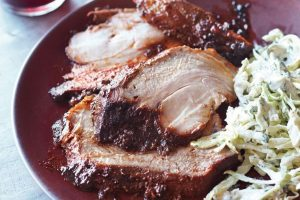 Grilled Smoked Pork Shoulder with Spice Rub